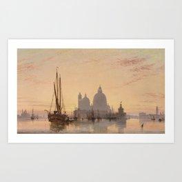 Edward William Cooke Venezia 1851 Art Print