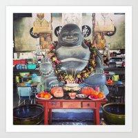 buddah Art Prints featuring Buddah by tikkunolam