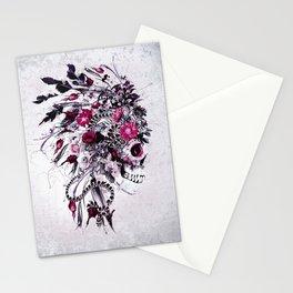 Skull Red Stationery Cards