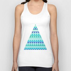 Winter Aztec Pattern Unisex Tank Top