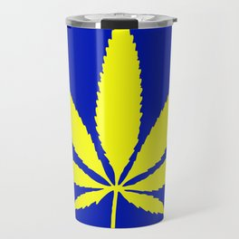Weed Hash Bash Blue Travel Mug