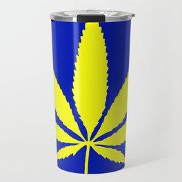 Weed Hash Bash Blue Travel Mug