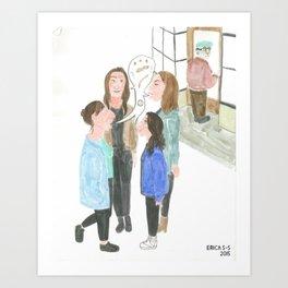4 Jewish Girls Talking Shit Art Print
