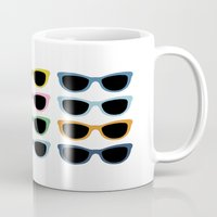 sunglasses Mugs featuring Sunglasses #3 by Project M
