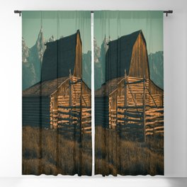 Wyoming High Country Barn Print Blackout Curtain