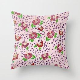 Flor De Maga - Original Colors Throw Pillow