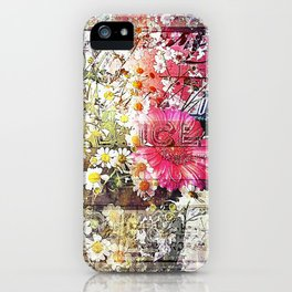 Wild flowers on display iPhone Case