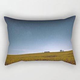 Barn Under Blue Over Yellow Rectangular Pillow