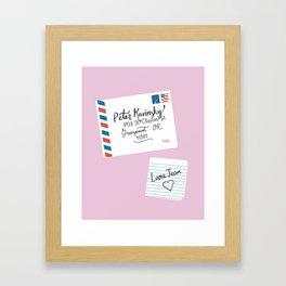 To All The Boys I've Loved Before, Peter Kavinsky and Lara Jean Letter Framed Art Print