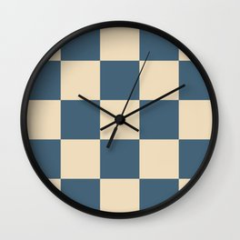 Liberty Lamiak - Checker Pattern Wall Clock