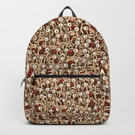 Spaghetti monsters army Backpack