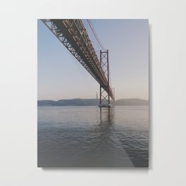 25 de Abril bridge. Lisbon, Portugal. Metal Print