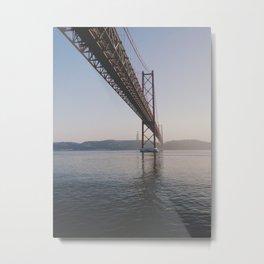 25 de Abril bridge. Lisbon, Portugal. Metal Print