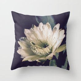 Desert Night Bloom Throw Pillow