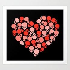 SKULL HEART FOR VALENTINE'S DAY Art Print