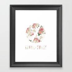 Structures Floral Framed Art Print