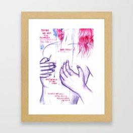 PERISH AND NOURISH - Equilibrium Framed Art Print