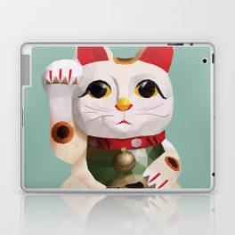 Maneki Neko (Fortune Cat) Polygon Art Laptop & iPad Skin