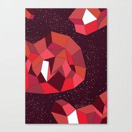 Geometric Reds  Canvas Print