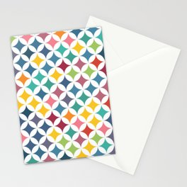Geometric Star Pattern - Parrot #290 Stationery Cards