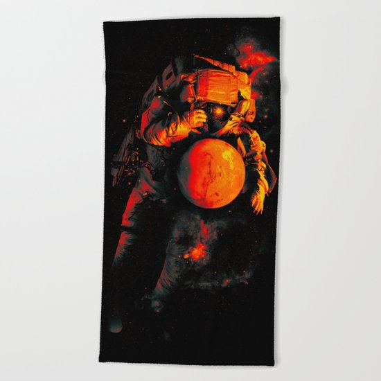 It's a Small Worls After All (Mars) Beach Towel