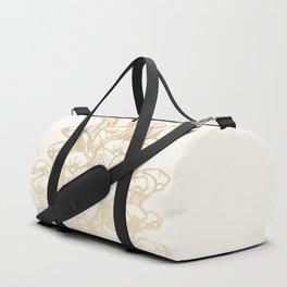 Golden Pine Cone Duffle Bag