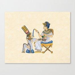 King Tut and Queen Ankhesenamun Canvas Print