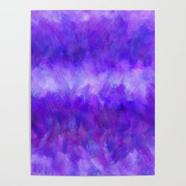 Dappled Blue Violet Abstract Poster