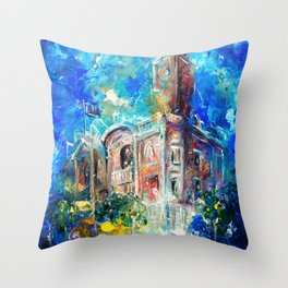 THE CITY HALL OF COLCHESTER Throw Pillow