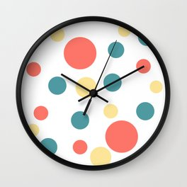 Coral Pop Wall Clock