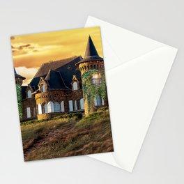 Wonderful Fairytale Manor In Greenery Dreamy UHD Stationery Cards