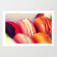 macaroons Art Prints featuring Macaroons by Sushibird