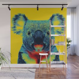 Koala Yellow Animal Wall Mural