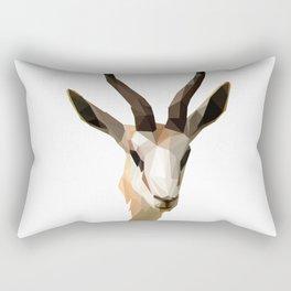Low Poly Antelope Rectangular Pillow