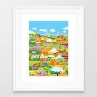 the neighbourhood Framed Art Prints featuring Neighbourhood by James Thornton