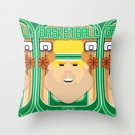 Basketball Green - Court Dunkdribbler - Sven version Throw Pillow