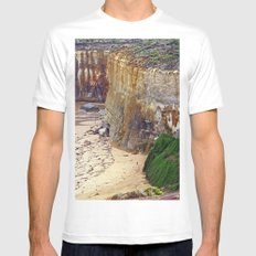 Cliff Hanger SMALL White Mens Fitted Tee
