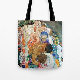 """Gustav Klimt """"Death and Life"""" (detail) Tote Bag"""