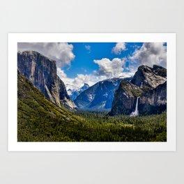 Yosemite Valley And Bridalveil Fall  5-16-19 Art Print
