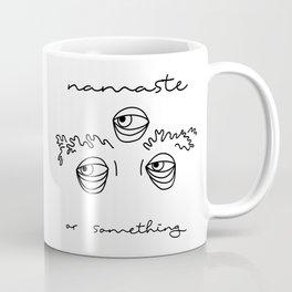Namaste Eyebrows Coffee Mug