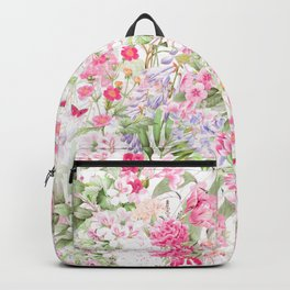 Vintage & Shabby Chic - Pastel Spring Flower Medow Backpack