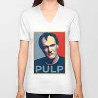 pulp fiction V-neck T-shirts featuring Pulp! by LilloKaRillo