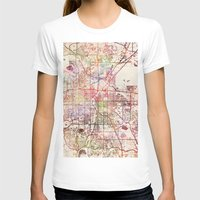 denver T-shirts featuring Denver by MapMapMaps.Watercolors