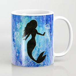 Mermaid Watercolor Underwater Coffee Mug