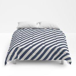 Navy Striped Comforters