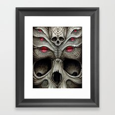 spider skull Framed Art Print