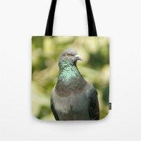 pigeon Tote Bags featuring Pigeon by Vishal Wadhwani