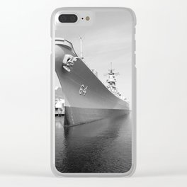 USS WISCONSIN photography Clear iPhone Case