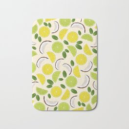 Lime Lemon Coconut Mint pattern Bath Mat