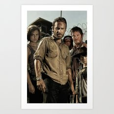 The Walking Dead - The Crew Art Print